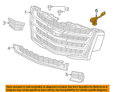 GM OEM Grille Grill-Front Camera 23402538