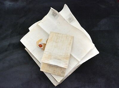 Wonderful Collection of 17th to 19th c ENGLISH INDENTURE MANUSCRIPTS Seals RARE