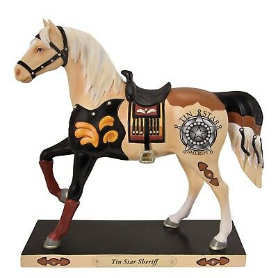 New Enesco Trail of the Painted Ponies Tin Star Sheriff Figurine