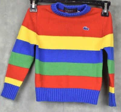 Vintage Izod Lacoste Exclusive Toddler Striped Sweater Size 3T