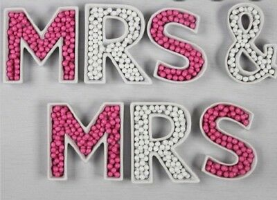 Mrs & Mrs Ceramic Letter Dishes Gay/Lesbian Wedding/ Lolly Candy Buffet