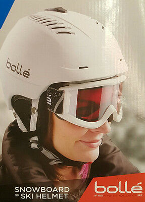 Bolle Vented Snowboard or Ski Helmet Winter Sports Unisex Adults Sizes Lrg White