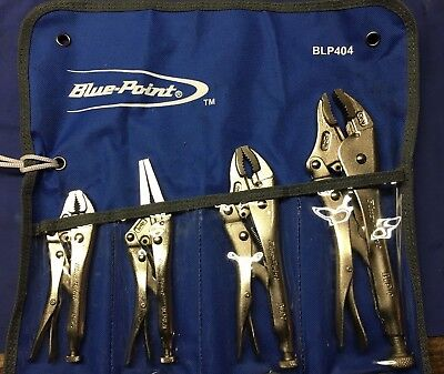 Bluepoint Sold By Snap On 4Pc Locking Pliers / Mole Grips Set - BLP404