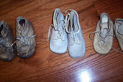 Vintage Baby shoes (3) prs Mrs. Day's Ideal Baby Shoes