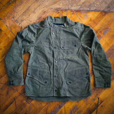 Men's Waxed Cotton Motorcycle Jacket Chore jacket XXL 2XL Green Like Barbour