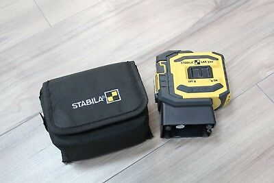 Stabila LAX300 Self Levelling Crossline and Plumb Laser with Pouch