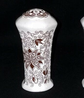 Masons BOW BELLS  SALT SHAKER ONLY  Very Good Condition  Brown Floral