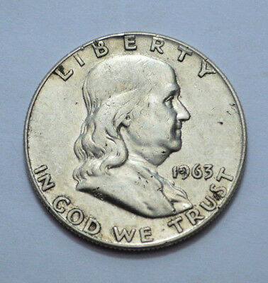 1963-D Franklin Half Dollar US COIN Silver OLD 50c, No Reserve !!!