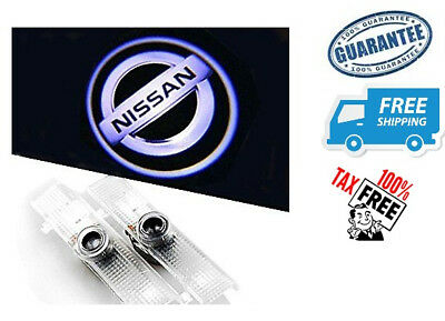 Car Door Light-Up LED Logo Projector Lights For Nissan Altima Maxima Titan 2 Pcs