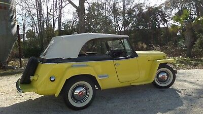1950 Willys Overland Light Four Jeepster 1950 WILLYS JEEPSTER CONVERTIBLE WITH OVERDRIVE
