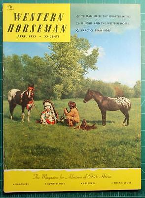 Western Horseman April 1955 Appaloosa Photo Cover Great 2 page Orin u-Rollits ad