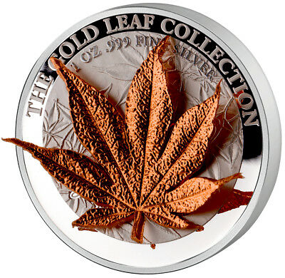 Tokelau 2017 5$ The Gold Leaf Collection - The Japanese Maple 3D 1oz Silver .999