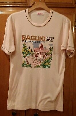 Vintage 80's Philippines Mine's View Park Tee T Shirt