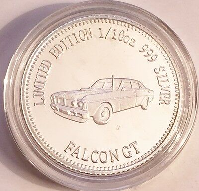NEW FALCON GT MCS1 Certified 1/10th Oz 999.0 Pure Silver Bullion Coin