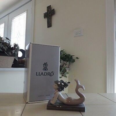 Lladro  Fantasy # 1414 Mermaid New In Box  Signed By Juan Lladro Fast Shipping!!