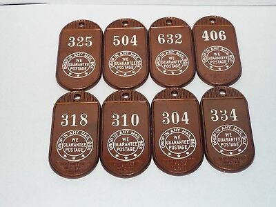 Old Vintage Southern Hotel Baltimore Maryland MD. Key Fob Advertising Lot of 8