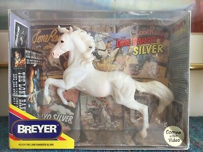 Breyer Traditional No. 574 - The Lone Ranger's Silver with Video, New in Box