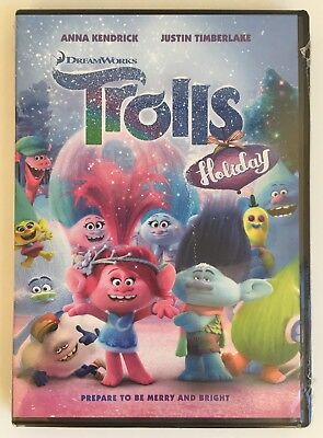 TROLLS HOLIDAY~ DVD *New *Factory Sealed