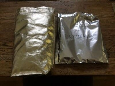 UASHMAMA wine cooler bag GOLD METALLIC with cooler insert Made in Italy