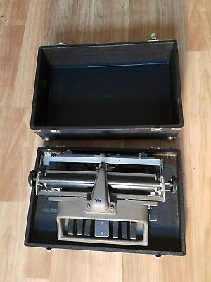 Vintage New Hall Braillewriter Braille Typewriter for Blind with Case - Nice!!
