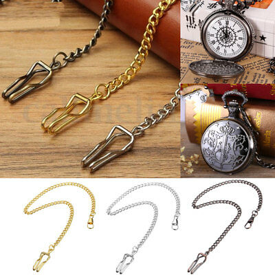 Retro Antique Vintage Fob Pocket Watch Chain Watches Jewelry Necklace UK