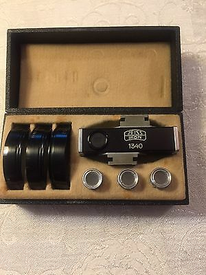 Zeiss Ikon Contameter 1340 Set W/ Proxar 20,30,50 For Contax