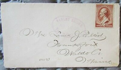 Hand Postmarked Gauley Bridge, West Virginia Cover With Scott #210 From 1885