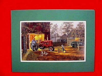 FARMALL H TRACTOR ART PRINT - COMMON GROUND by DAVE BARNHOUSE - SIGNED - MATTED
