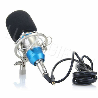 Professional Condenser Microphone Broadcasting Studio Recording Mic +Shock Mount