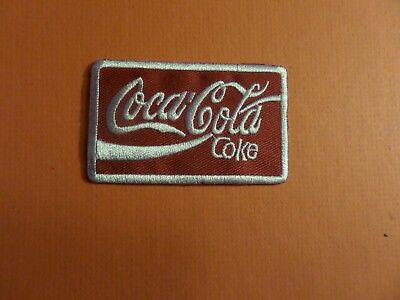 COCA COLA red & white  Embroidered 1-3/4 x 2-7/8 Iron On Patch