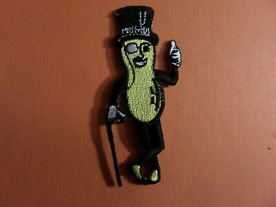 """""""MR PEANUT """"  black & yellow Embroidered 1-1/4 x 3-1/4 Iron On  Patch"""