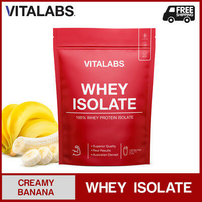 1KG WHEY PROTEIN ISOLATE POWDER WPI 100% PURE - Creamy Banana