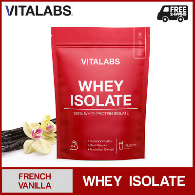 1KG WHEY PROTEIN ISOLATE POWDER WPI 100% PURE - French Vanilla