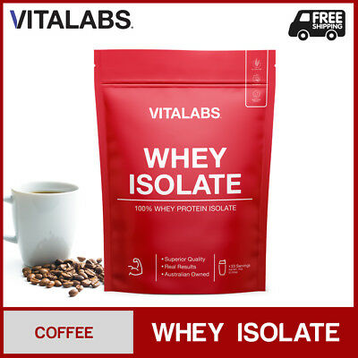 1KG WHEY PROTEIN ISOLATE POWDER WPI 100% PURE - Coffee