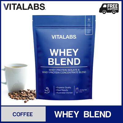 1KG WHEY PROTEIN POWDER WPC/WPI 100% PURE - Coffee