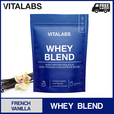 1KG WHEY PROTEIN POWDER WPC/WPI 100% PURE - French Vanilla