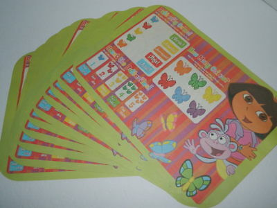 Dora Explorer Disposable Placemats Paper Party Favors Puzzles Coloring Lot 10
