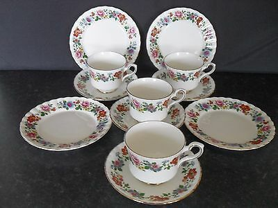 Royal Stafford English Bone China Floral Tea Set Service  Vintage Retro