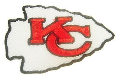 New NFL Kansas City Chiefs Logo embroidered iron on patch. 3 x 2 inch (i32)