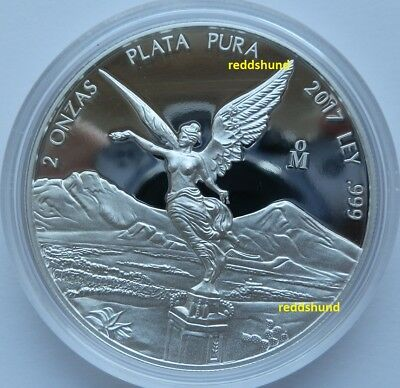 Libertad  2 Oz Silber  Proof  2017  Mexico  PP