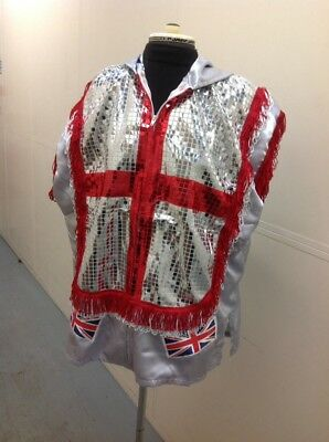 england /wales sequin satin boxing ring jacket (adult)