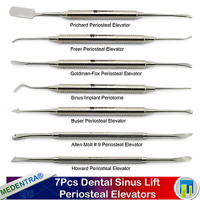 7Pcs Implant Surgical Periosteal Elevator Raspatory Dental Sinus Oral Surgery CE