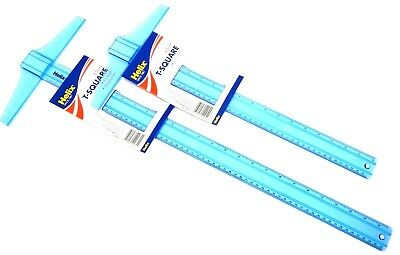 Helix T-Square Plastic T Square Ruler Shatter Resistant Printed 45cm or 65cm New