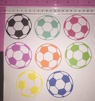 Die Cuts! 8 Pc 'Soccer Ball' Card Toppers Sport Football *Want Specific Colours?