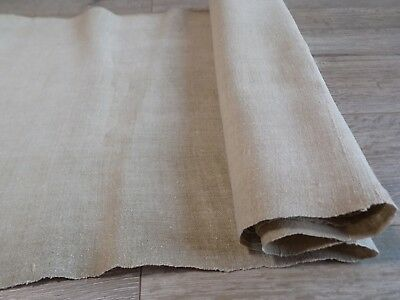 Antique Homespun Hemp Fabric Canvas Natural-beige 0,5x5,4m 19thC Good condition