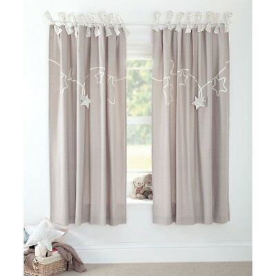 SALE MAMAS AND PAPAS MILLIE AND BORIS LINED CURTAINS UNISEX SIZE 132 x 190 CM
