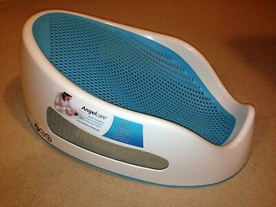 Angelcare Soft Touch Bath Support Comfort Anti Slip Seat Safety Blue