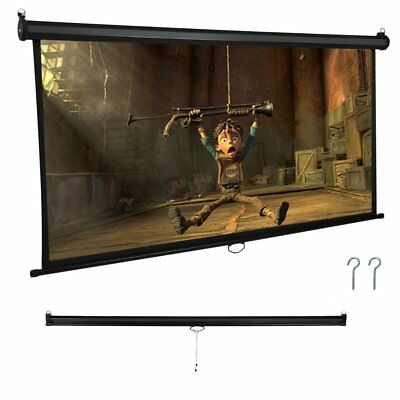 "ON SALE ! 72"" Manual Pull Down Projector Screen 16:9 gain factor 1.1 Matt White"