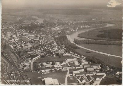 Germany (W) - Airplane View of Muhldorf Am Inn/Obb. (Post Card) 1960's