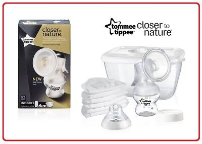 Tommee Tippee Closer to Nature Manual Freedom Breast Pump Kit +Free Steriliser